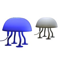 USB Soft Touch JellyFish LED Lamp Wit/Blauw