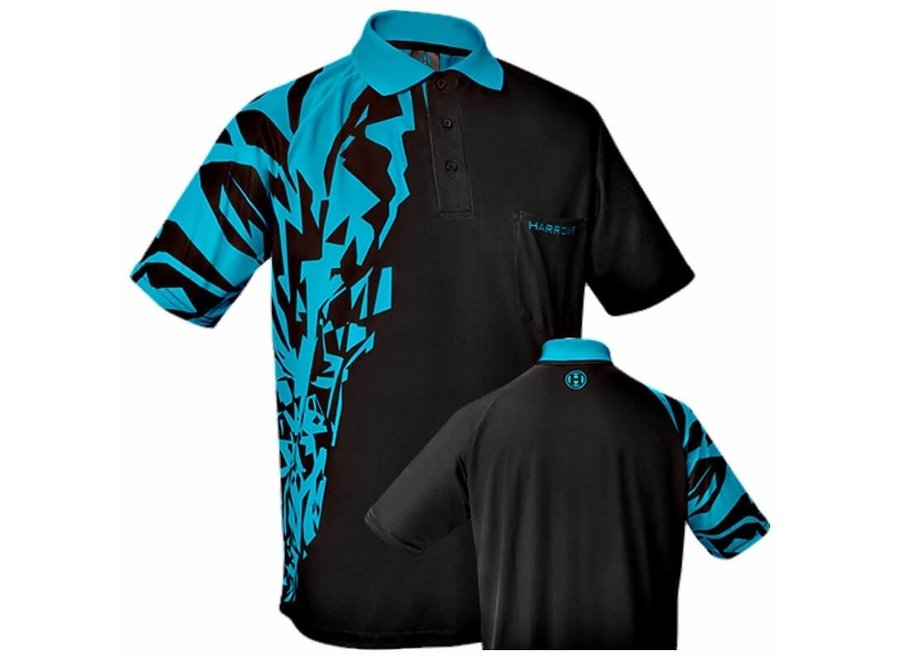 Harrows dartshirt Rapide blauw