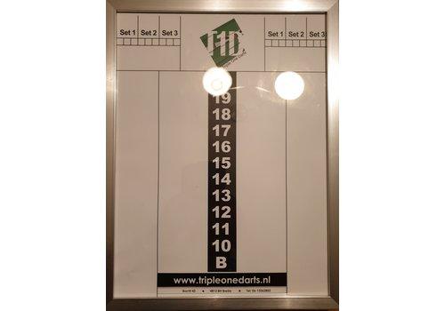Basic collection Schrijfbord glas +lijst 30 x 40