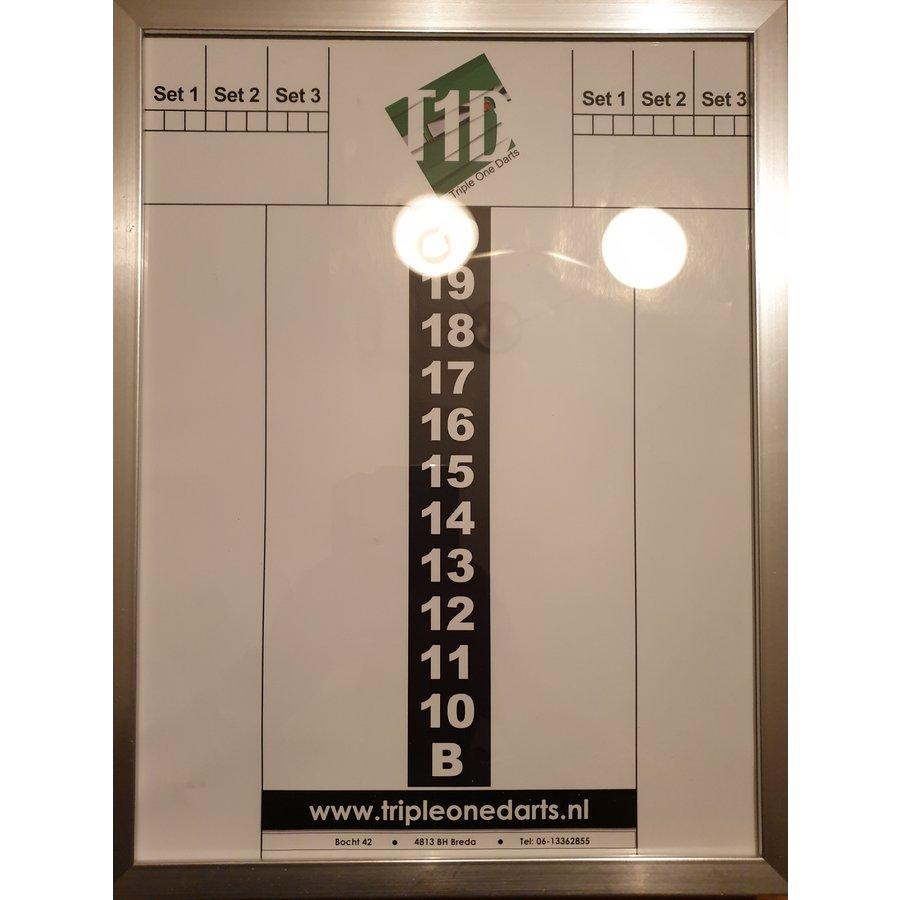 Schrijfbord glas + lijst 30 x 40-1