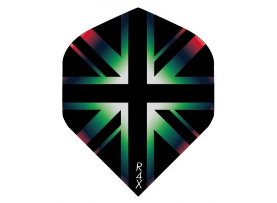 Ruthless flight Engelse vlag  zwart/groen