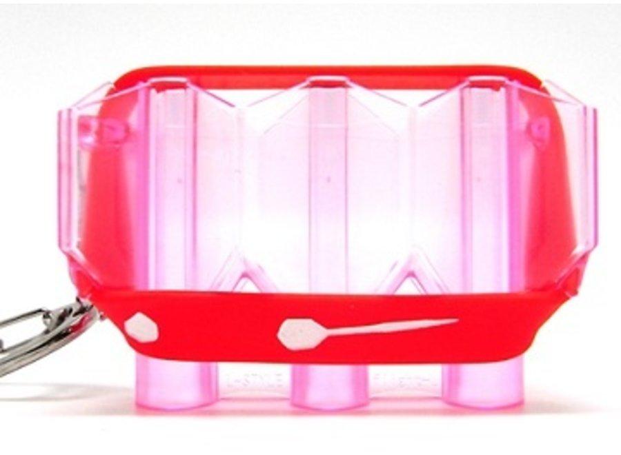 Kristal flight case clear rood