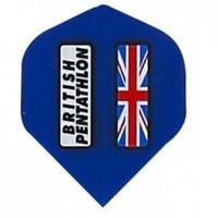 British pentathlon flight blauw