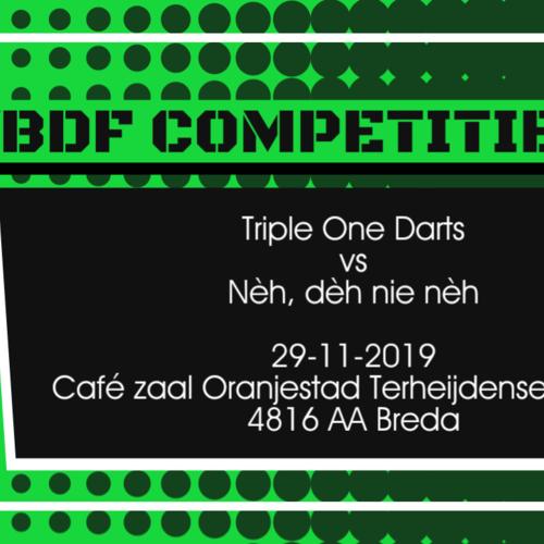 Team Triple One Darts vs Nèh, dèh nie nèh