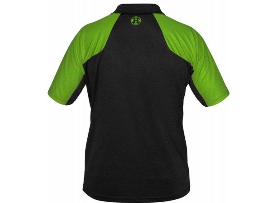 Vivid black and green
