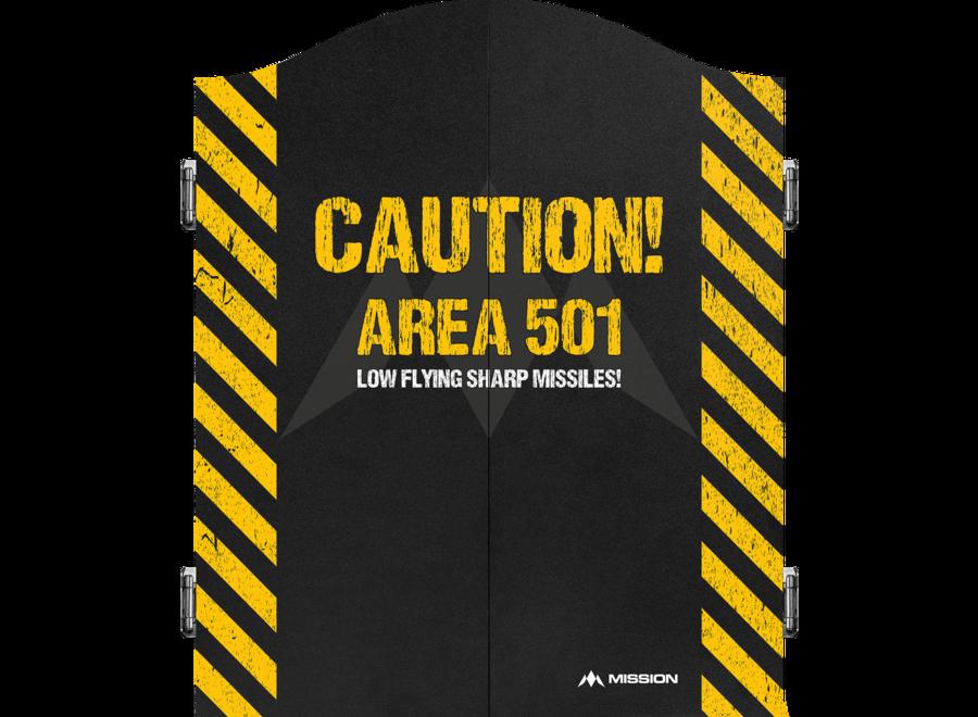 Dartkabinet caution  area 501
