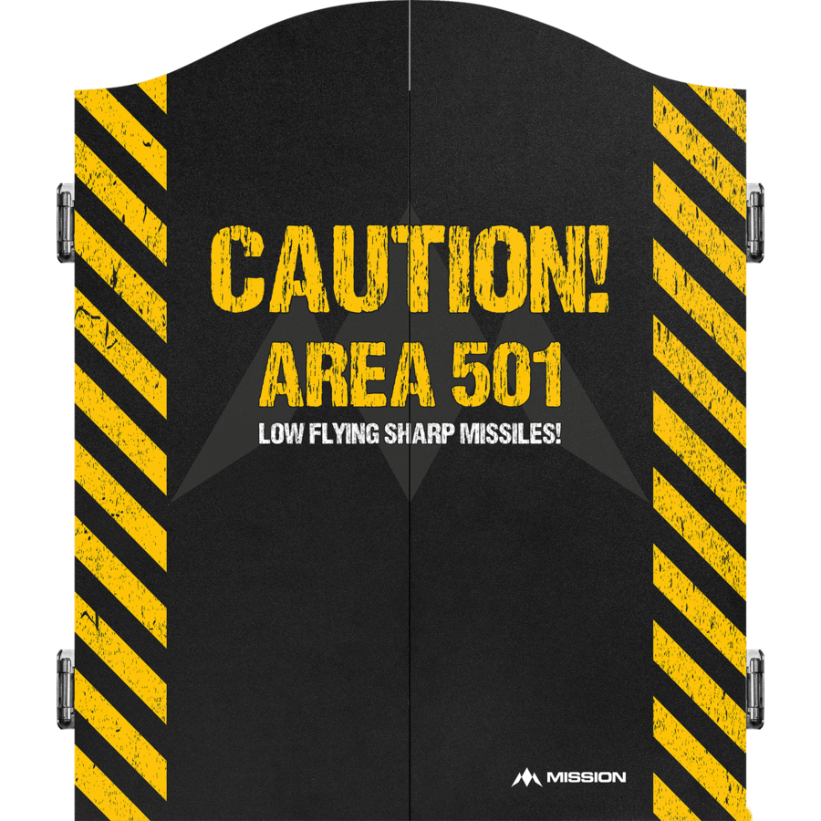 Dartkabinet caution  area 501-1