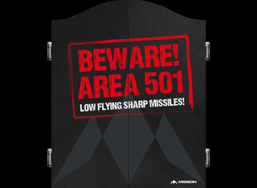Dartkabinet beware area 501