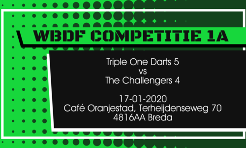 Triple One Darts vs the Challengers