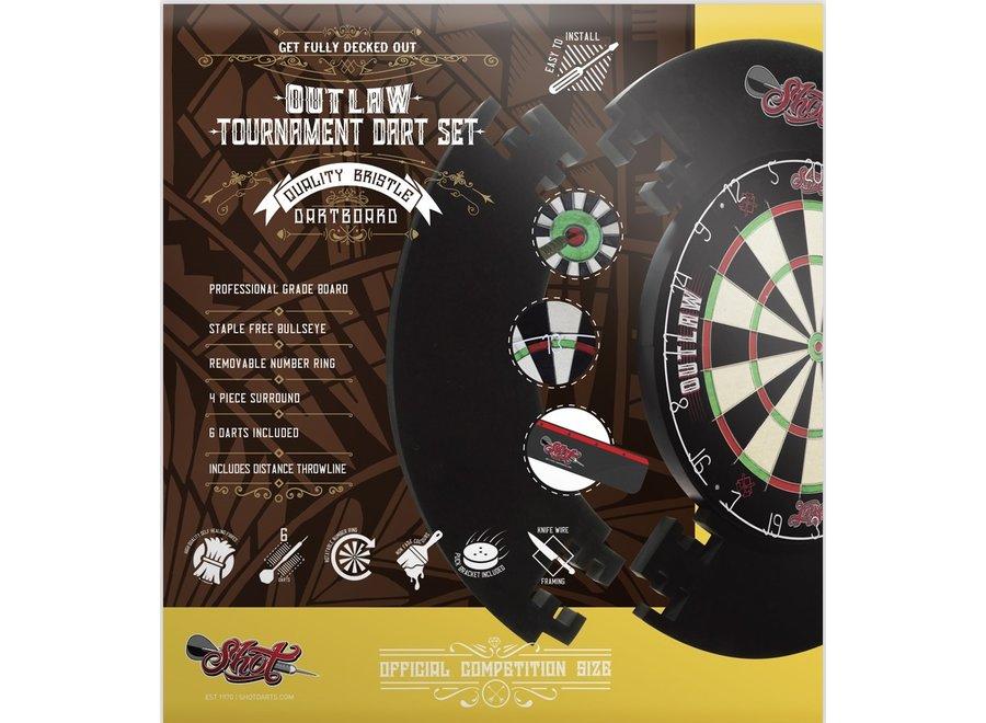 Outlaw tournament dartbord set