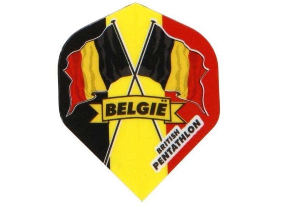 British pentathlon flight Belgie