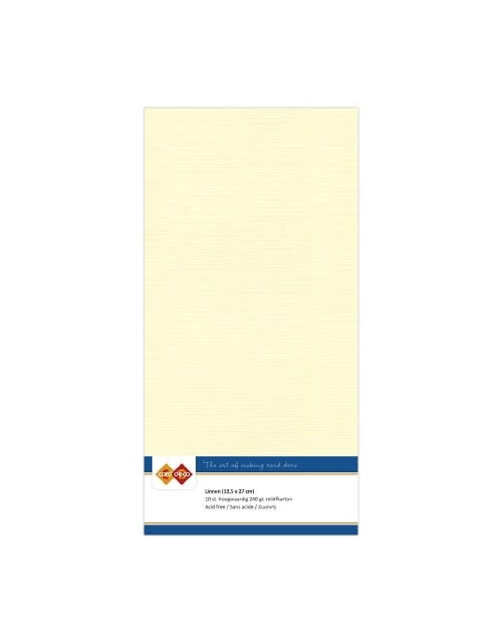 Card Deco Linnenkarton vierkant