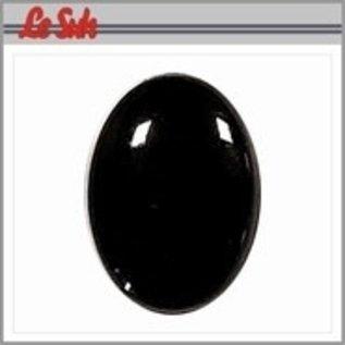 Le suh Ovalen ogen zwart 10x14mm