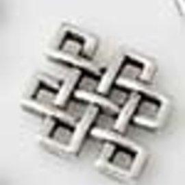 Metalen hangers/tussenzetsels ruit keltisch ± 12x9mm per 10st