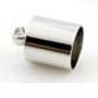 Metalen kapje met oogje ± 13x9mm (gaten ± 8mm en ± 1,5mm)