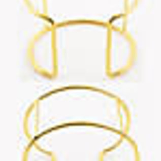 Metalen cuff armband blank (binnenmaat ± 15cm), ± 4,5cm dik