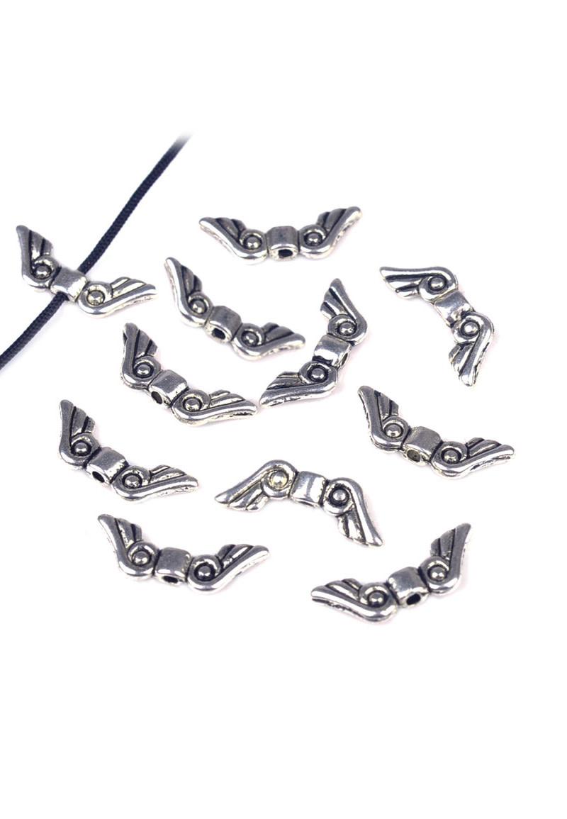 Metalen vleugeltjes ± 16x8mm