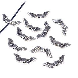 Metalen kralen vleugeltjes 31x8mm