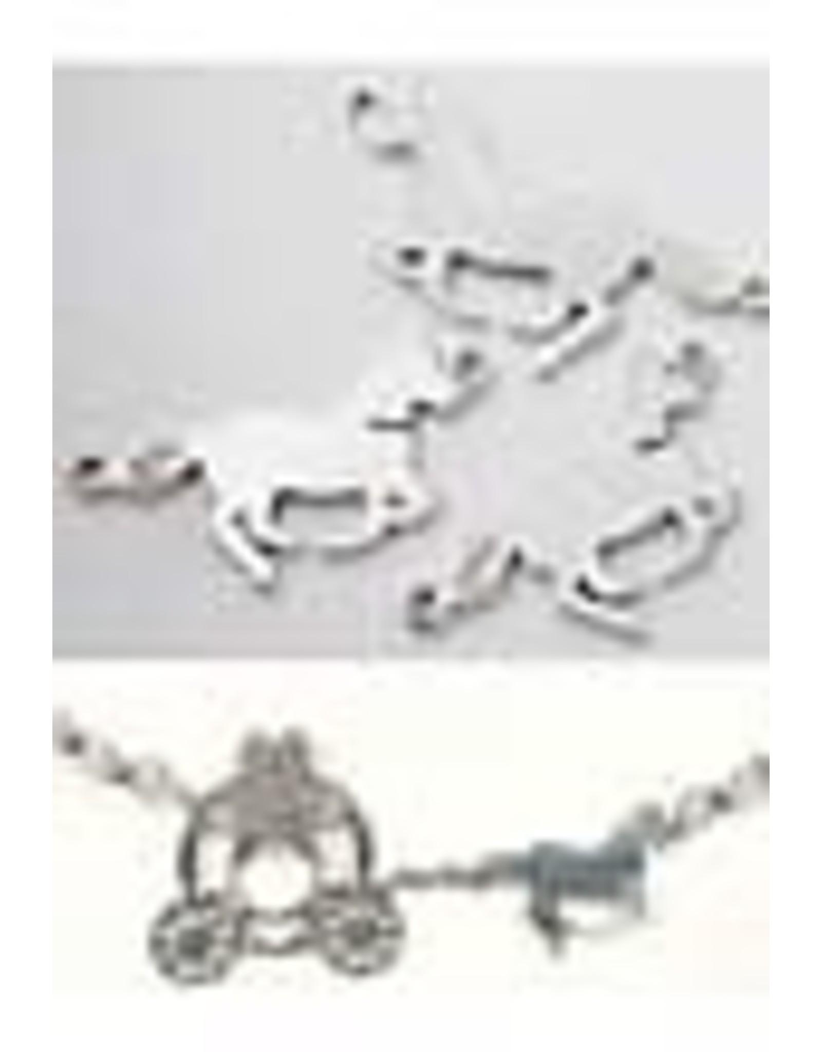 Metalen hangers/tussenzetsel paard ± 36x18mm