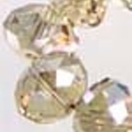 Glaskralen kristal rondel facet ± 8x6mm (± 70 st.)