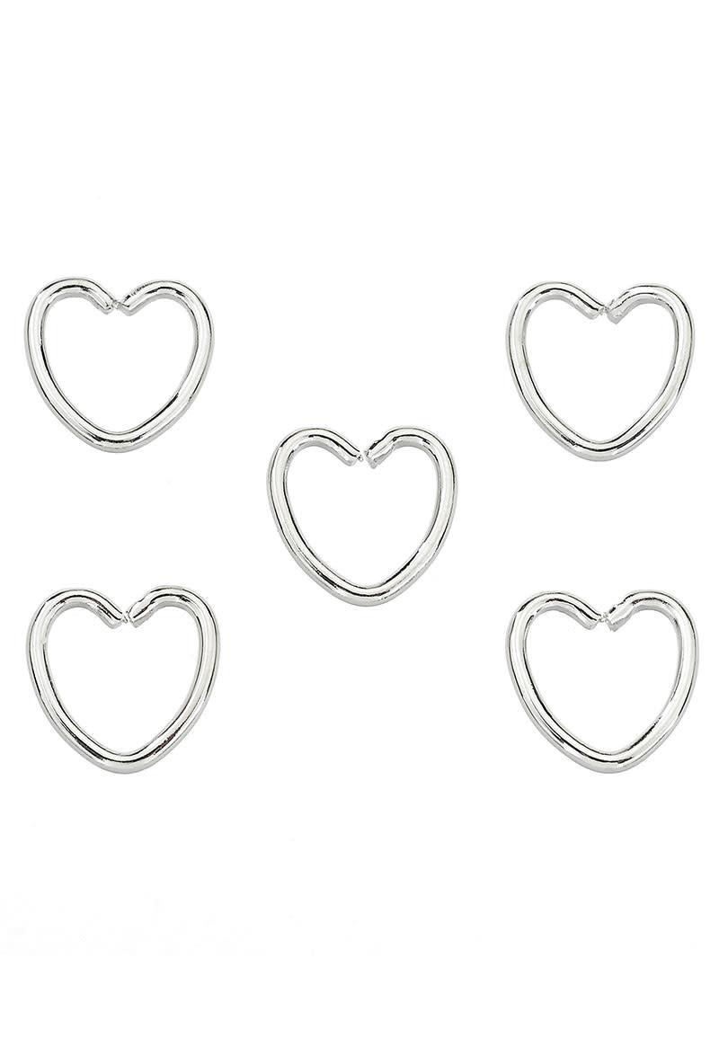 Metalen ringetjes hartje ± 10mm