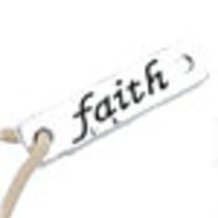 Metalen hangers/tussenzetsels 'Faith' ± 6x25mm (oogjes ± 2mm)