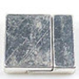 Metalen magnetische sluitingen ± 30x25,5mm (gat ± 22,5x3,5mm) (waarschuwing: niet voor mensen met een pacemaker)
