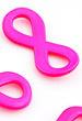 Metalen hangers/tussenzetsels infinity teken ± 29x14mm 2x oranje&4x roze