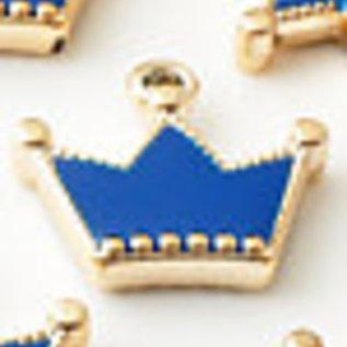 Kunststof hangers/bedels kroontje ± 24,5x27,5mm (oogje ± 3mm)