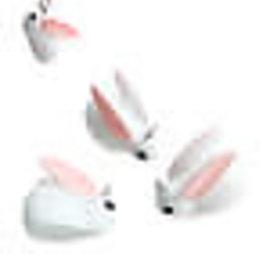 Kunststof hangers/bedels konijn 21x17mm