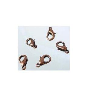 Metalen sluiting ovaal 12x7mm brons