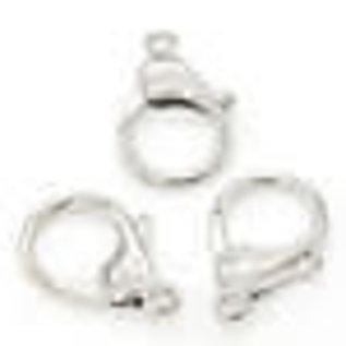 Metalen sleutelhanger/sluiting ± 35x25x6mm