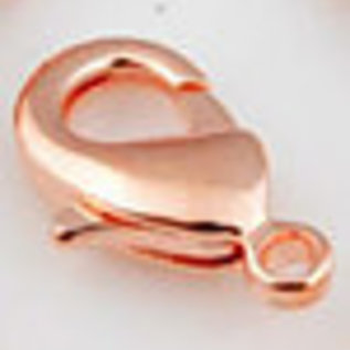 Metalen slotjes ± 12x7mm (oogje ± 1mm rosegoud
