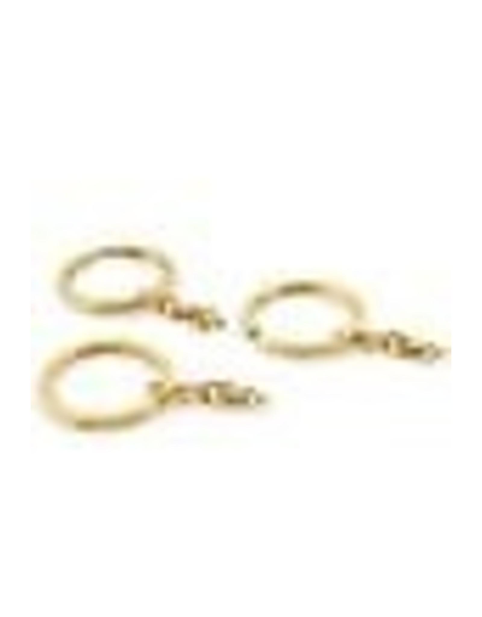 Metalen sleutelhanger ring met ketting goud ± 56x30mm