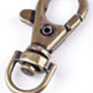 Metalen sleutelhangers/sluitingen ± 38x17mm brons