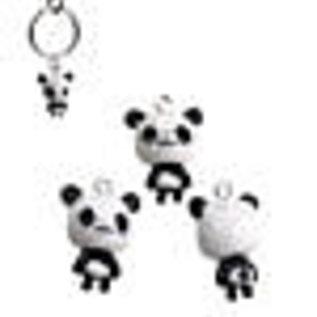 Kunststof hangers/bedels panda 24x17mm
