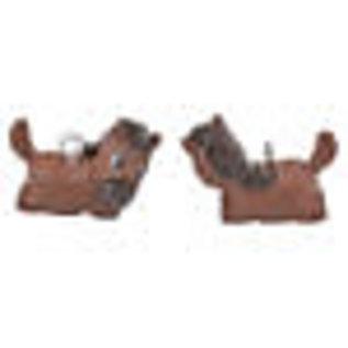 Kunststof hangers/bedels paard bruin 22x16mm