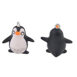 Kunststof hangers/bedels pinguïn 23x22mm