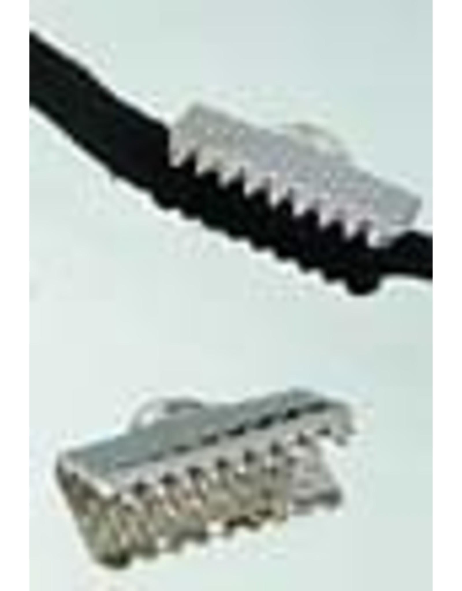 Metalen veter/leerklemmetje 10x7mm