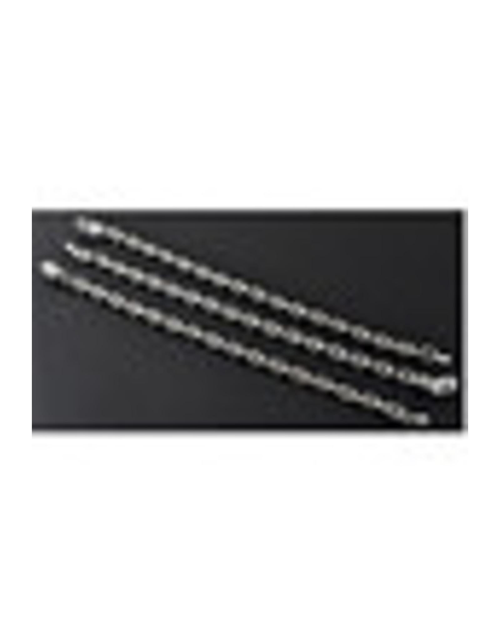 Metalen verlengkettingen ± 14cm met glaskraal kristal druppel facet geslepen ± 8x5,5mm.