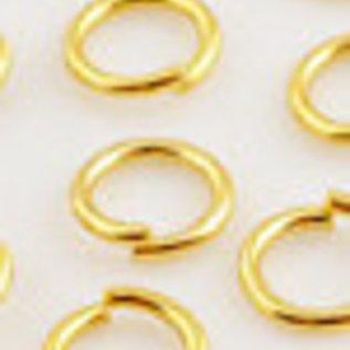 Metalen ringetjes rond ± 6mm (± 0,8mm dik) (per 10st)
