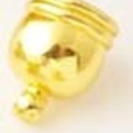 Metalen kapjes met oogje goud ± 12x10mm (gat ± 8mm) (oogje ± 1,5mm)