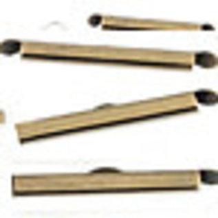 Metalen klemmetjes voor kettingen ± 30x6mm (gat ± 3,5mm en oogje ± 1mm)
