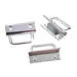 Metalen veter/leerklemmetje 23x33mm
