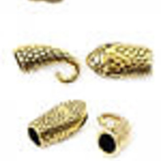 Metalen sluitingen slang goud 42x13mm