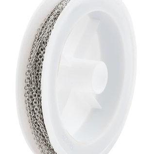 Metalen ketting met 2,5x2mm schakels (5 meter per rol)