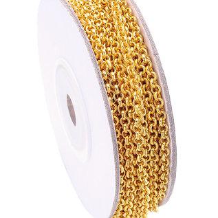 Metalen jasseron met 3mm schakels (per meter)