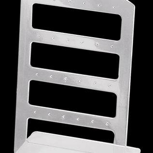Kunststof sieraden oorbellen display 16x10cm