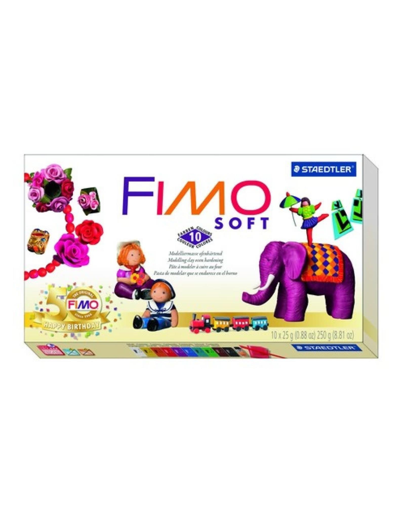 FIMO Fimo Soft basisset 10 halve blokken Nostalgia