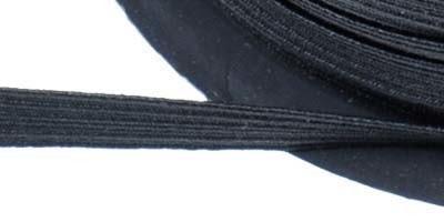 Elastiek zwart 8mm (geschikt voor mondkapjes) per meter